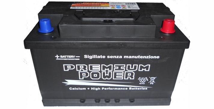 Batterie Sigillate Premium Power Garanzia 2 anni dalla 45 ah alla 100 ah